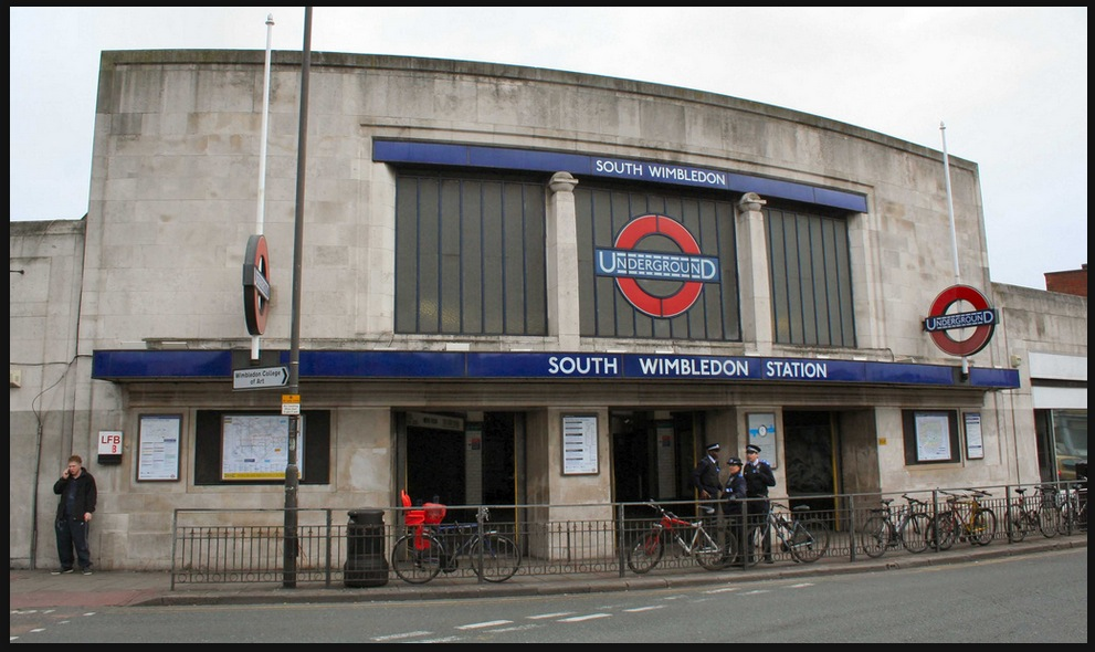 Classic 1920s station architecture in South Wimbledon