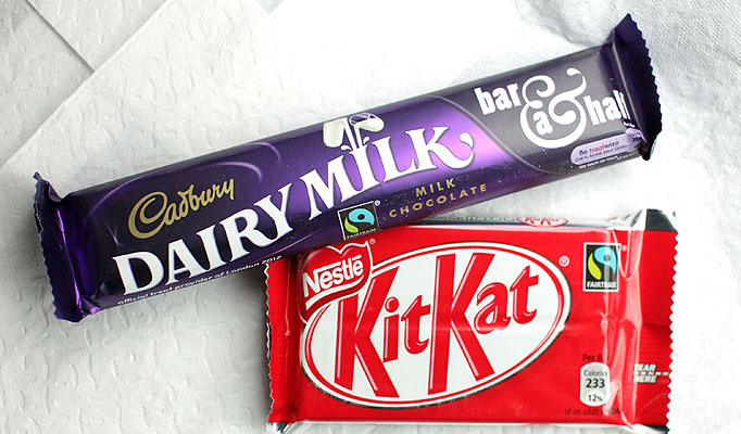 Cadbury vs Nestlé - the four-fingered gloves are off