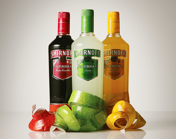 Smirnoff Caipiroska - a great example of packaging with a-peel
