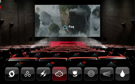 4DX cinemas offer a variety of environmental effects in order to create an immersive experience for viewers
