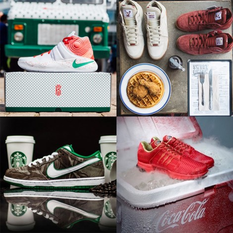 branded shoe collage