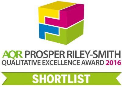 Shortlisted for the AQR Qualitative Excellence Award