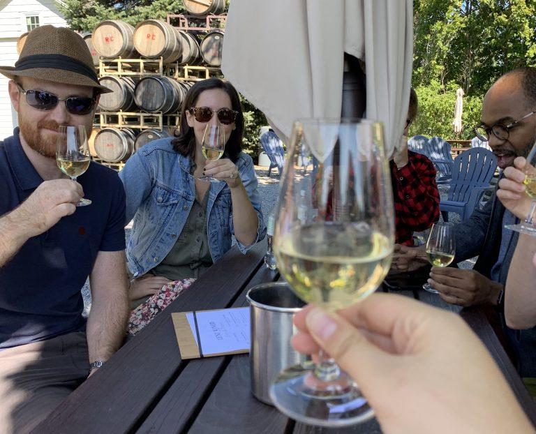 cheers wine tasting